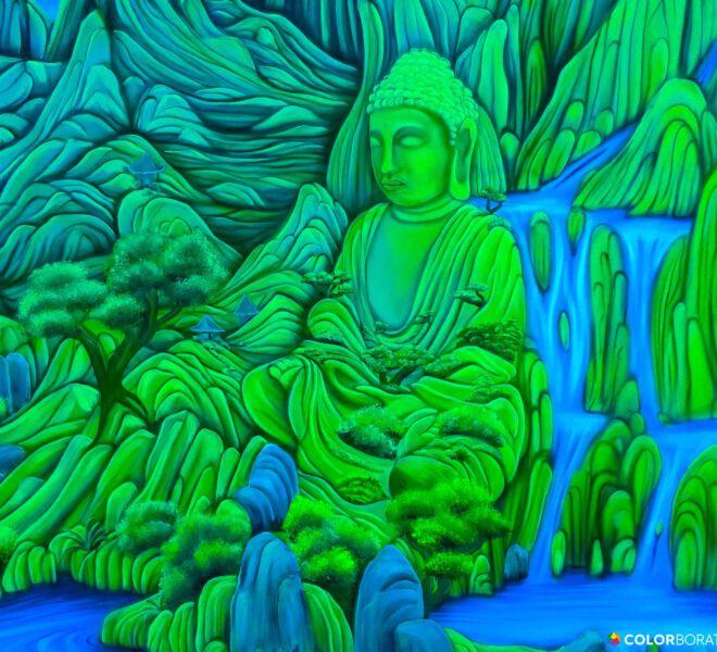 Blacklight-Buddha