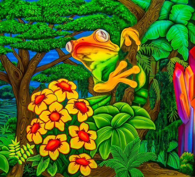Blacklight-Frog