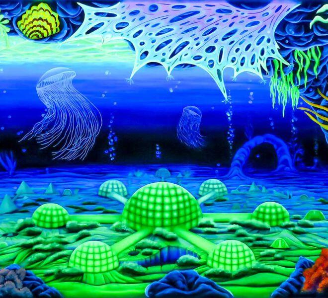 Schwarzlicht-Korallen