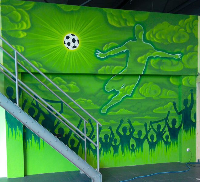 Kinderspielplatz-Fussball