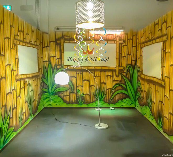 Kinderspielplatz-Geburtstags-Malerei