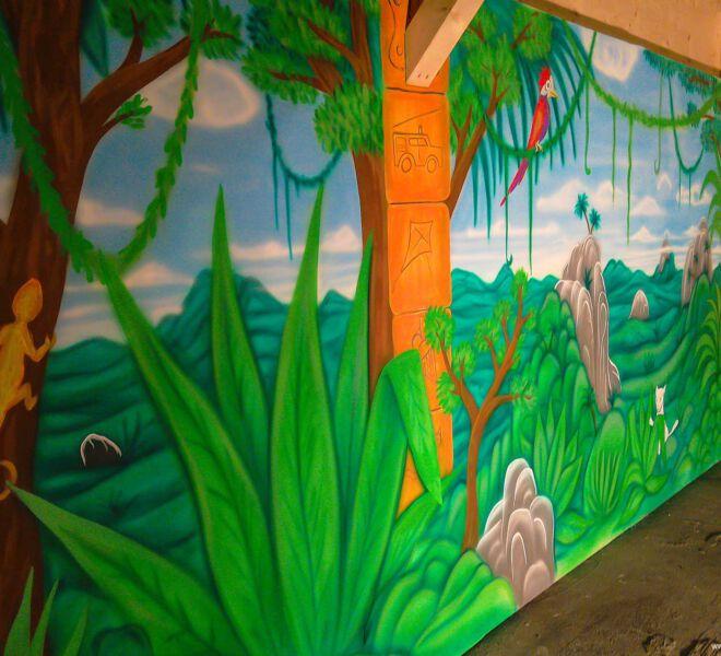 Kinderspielplatz-Malerei